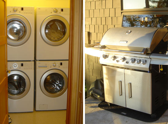High Quality Appliances: Dual Washer/dryers Are HE And Energy Star  Certified. Large Capacity Sears Barbeque Rated #1 By Consumer Reports.